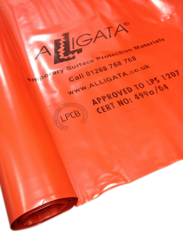 its Hot! Fire and Flame Retardant Polythene Sheeting