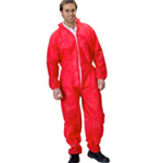 Polypropylene Coveralls Red Extra Large