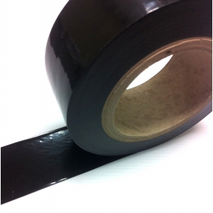 Low Tack Surface Protection Tape Plain Black 50mm x 100m