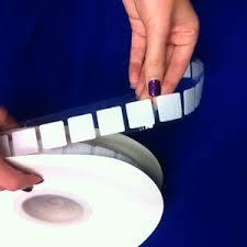 Rip 'n' Grip Hook and Loop Fastener Squares HOOK White High Tack Rubber Adhesive 22MM (1000)