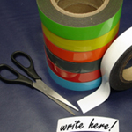 Magnetic Label Tape Yellow 50mm x 10m