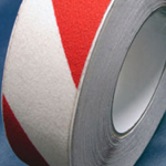 Antislip Tape Self Adhesive Safety Hazard Warning Red & White 25mm x 18m