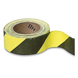 Social Distancing Tape CLOTH Adhesive Black & Yellow 50mm x 33m