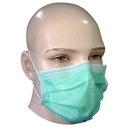 50 Disposable Paper Face Mask Surgical Dental Salon Medical Beauty 2PLY