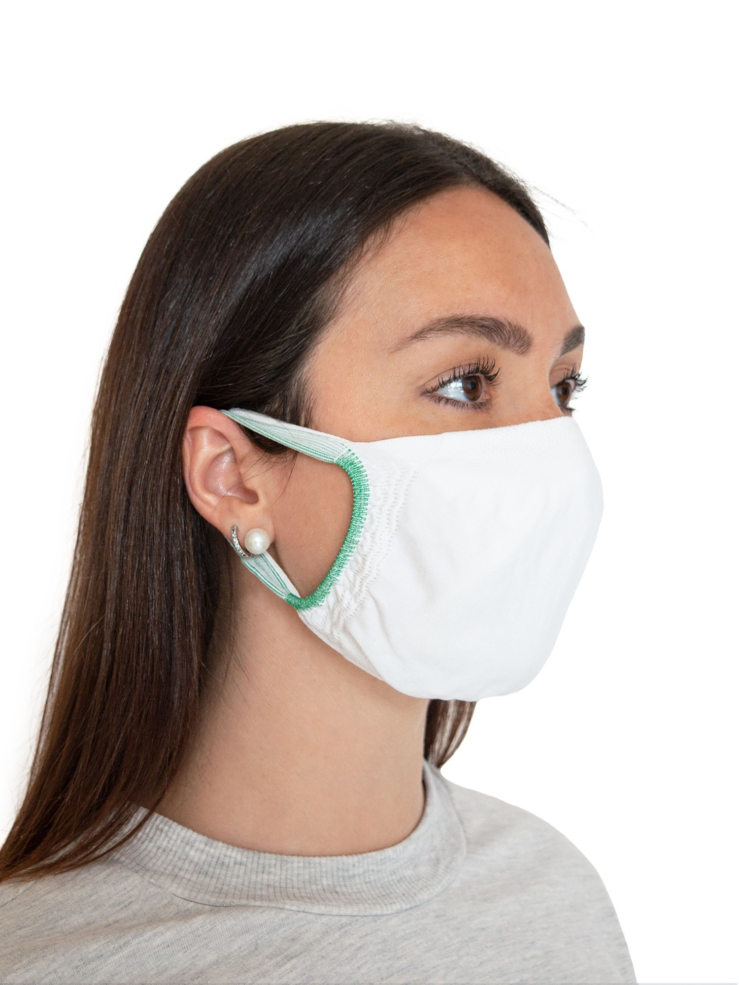 FMI Washable Reusable Face Mask Adult White Antibacterial